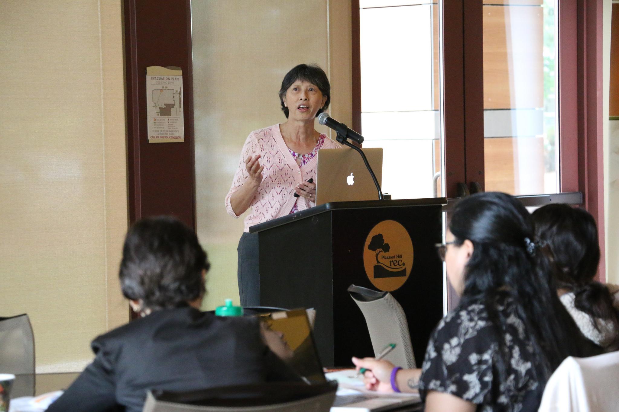 Sue Garces RN captivates the audience