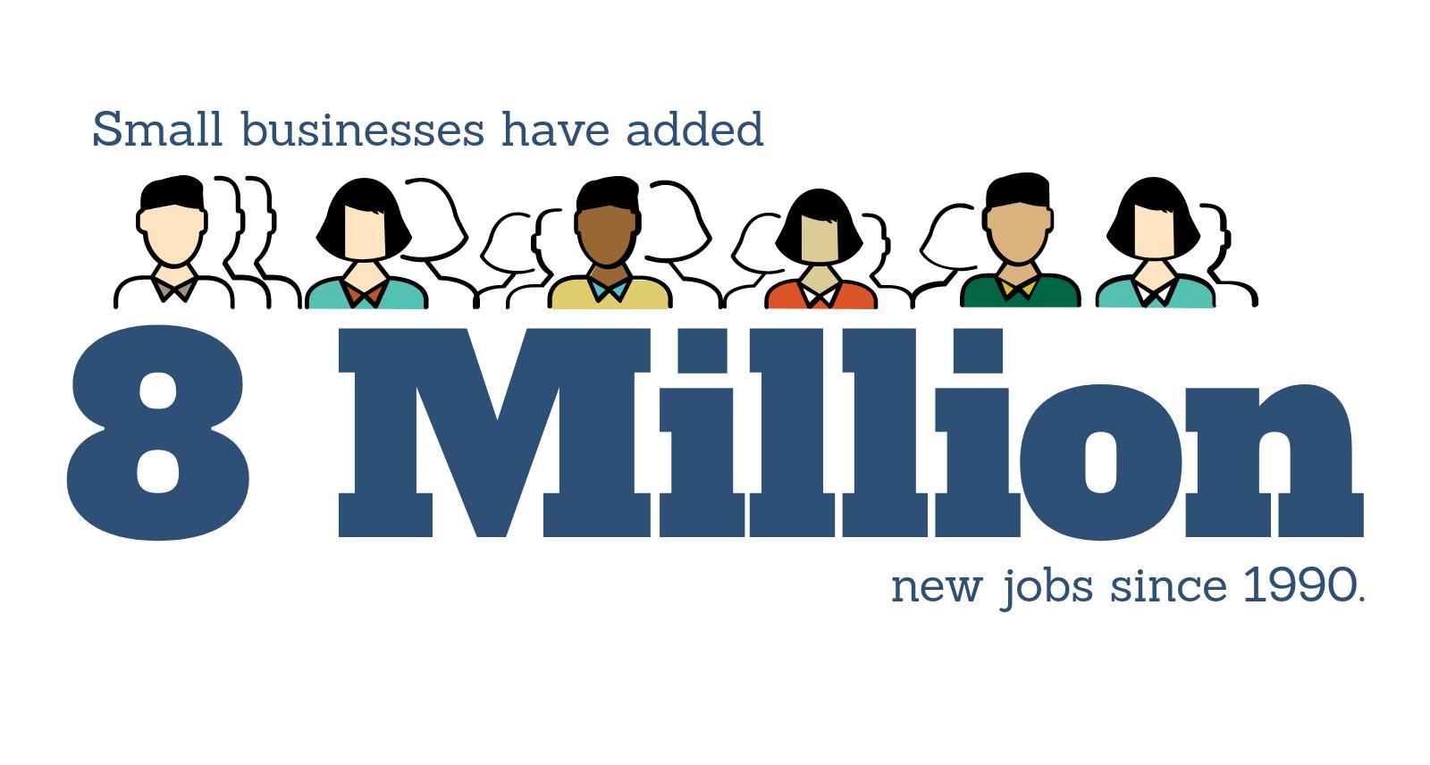 8 million new jobs