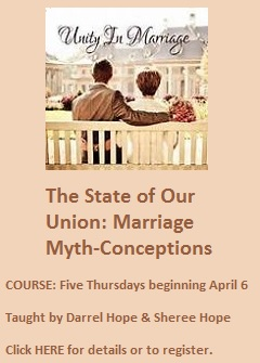 Marriage-course beginning April 6 2017