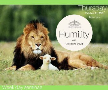 Humility seminar taught by Cleveland Davis Thursday October 26 2017