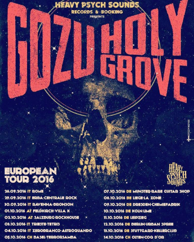 Boston Heavy Rockers Gozu Head to Europe to Tour Their New Ripple Release, Revival