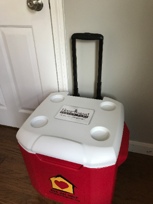 Neighbor Brigade coolers for meal delivery!