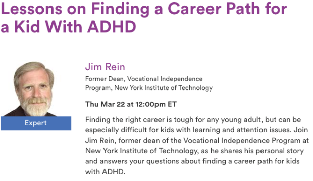 Lessons on finding a career path for a kid with ADHD