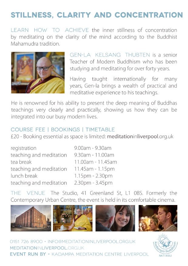 Gen-la Thubten day course KMC Liverpool