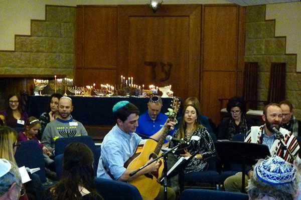 2017-12-15 Shabbat Unplugged! and Chanukah Service with Toby Pechner