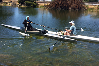 Amy learns to row at BORP