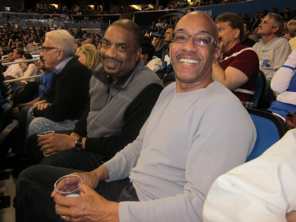 Ken and Lonnie at the Magic game