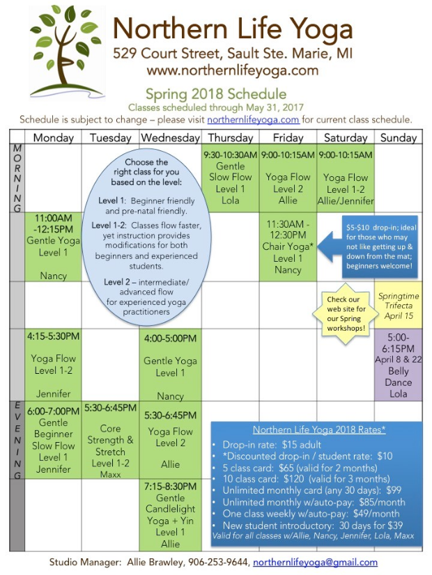 2018 - Northern Life Yoga Spring Schedule.jpg